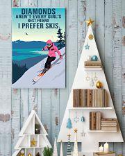 skiing girl diamondp 11x17 Poster lifestyle-holiday-poster-2