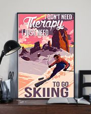 skiing dont need therapy 11x17 Poster lifestyle-poster-2