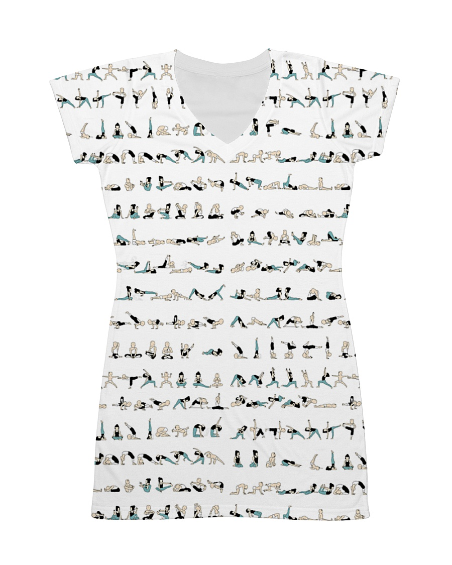 yoga-pose-poster All-over Dress