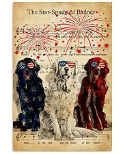 Golden Retriever the star spangled banner poster 11x17 Poster front