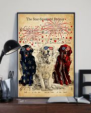 Golden Retriever the star spangled banner poster 11x17 Poster lifestyle-poster-2