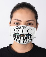 Crazy before cats mas Cloth Face Mask - 3 Pack aos-face-mask-lifestyle-01