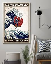samurai surfing easily distracted pt phq pml 16x24 Poster lifestyle-poster-1
