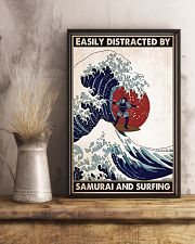 samurai surfing easily distracted pt phq pml 16x24 Poster lifestyle-poster-3