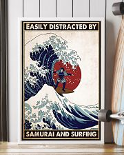 samurai surfing easily distracted pt phq pml 16x24 Poster lifestyle-poster-4