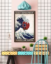 samurai surfing easily distracted pt phq pml 16x24 Poster lifestyle-poster-6