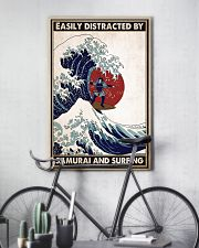 samurai surfing easily distracted pt phq pml 16x24 Poster lifestyle-poster-7