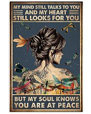 dragonfly girl peace poster 11x17 Poster front