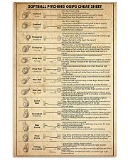 softball pitching grips cheat sheet 11x17 Poster front