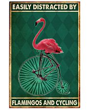 flamingo cycling penny farthing bike phq nna 11x17 Poster front