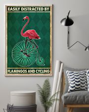 flamingo cycling penny farthing bike phq nna 11x17 Poster lifestyle-poster-1
