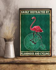 flamingo cycling penny farthing bike phq nna 11x17 Poster lifestyle-poster-3