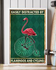 flamingo cycling penny farthing bike phq nna 11x17 Poster lifestyle-poster-4
