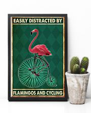 flamingo cycling penny farthing bike phq nna 11x17 Poster lifestyle-poster-8
