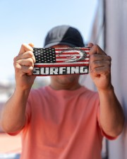 surfing us flag mas Cloth Face Mask - 3 Pack aos-face-mask-lifestyle-05