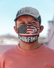 surfing us flag mas Cloth Face Mask - 3 Pack aos-face-mask-lifestyle-06