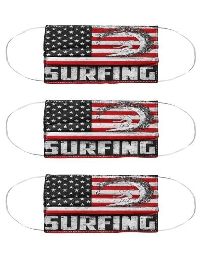 surfing us flag mas