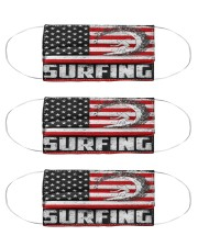 surfing us flag mas Cloth Face Mask - 3 Pack front