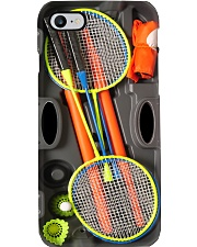 Badminton case orange pc dvhh dqh Phone Case i-phone-8-case