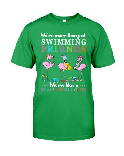 Flamingo Friends Swiming gang