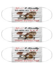 yes need all these guinea pigs mas Cloth Face Mask - 3 Pack front