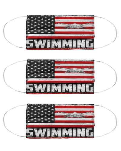 swimming us flag mas