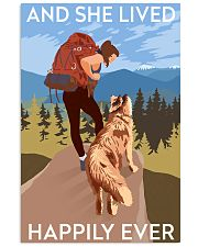 she lived hiking dog 11x17 Poster front