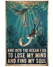 mermaid ocean moon lose my mind 11x17 Poster front