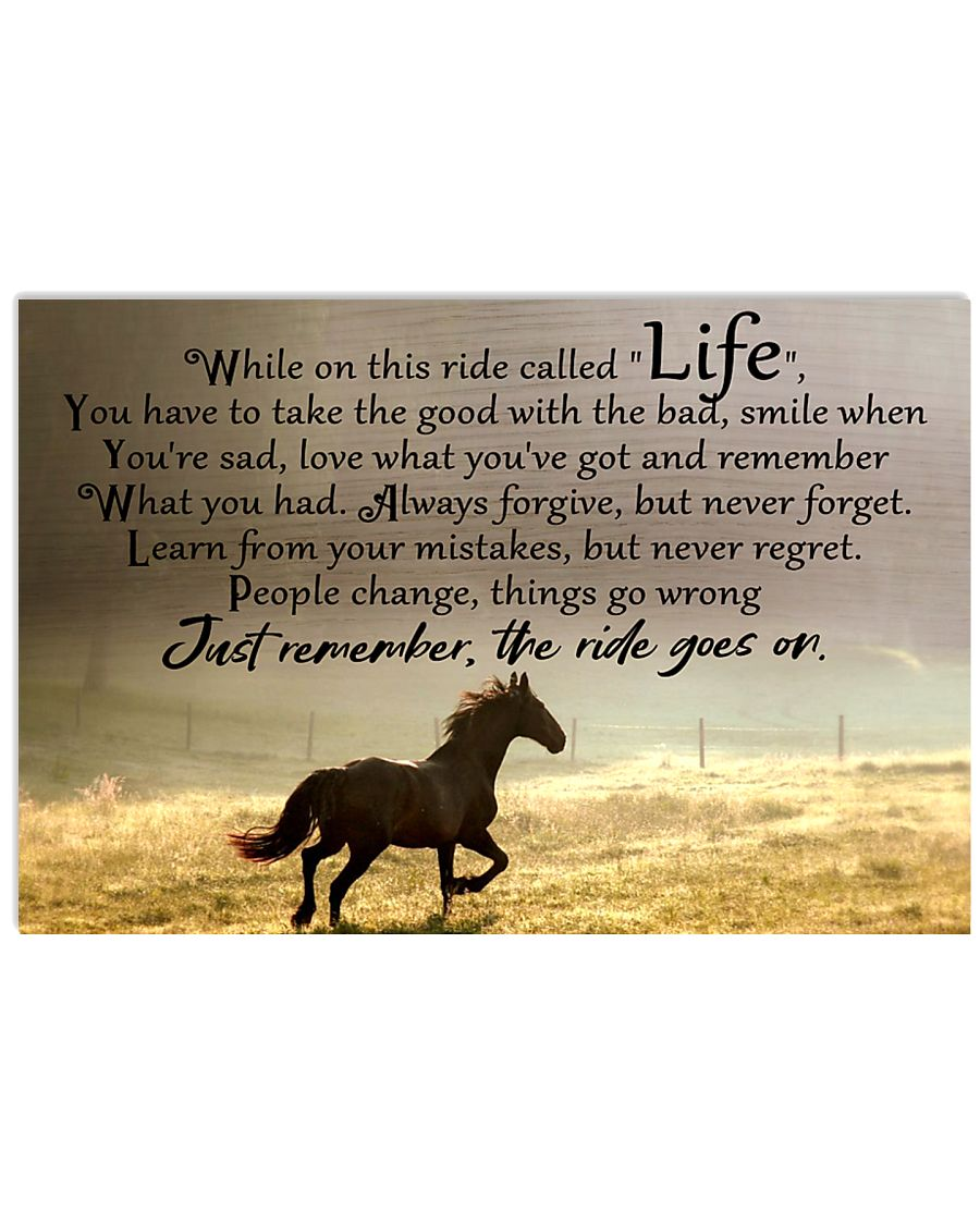 horse ride go on 17x11 Poster