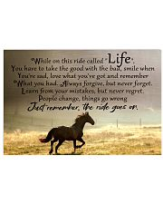 horse ride go on 17x11 Poster front