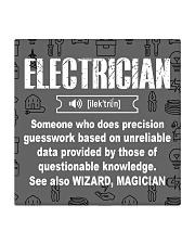 Electrician Noun mas Square Coaster thumbnail