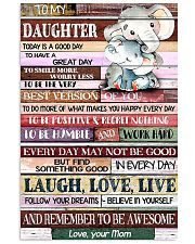 daughter good great day mom elephant 11x17 Poster front