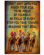 colorful horse racing reach goal pt lqt ngt 16x24 Poster front