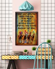 colorful horse racing reach goal pt lqt ngt 16x24 Poster lifestyle-poster-6