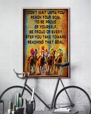 colorful horse racing reach goal pt lqt ngt 16x24 Poster lifestyle-poster-7