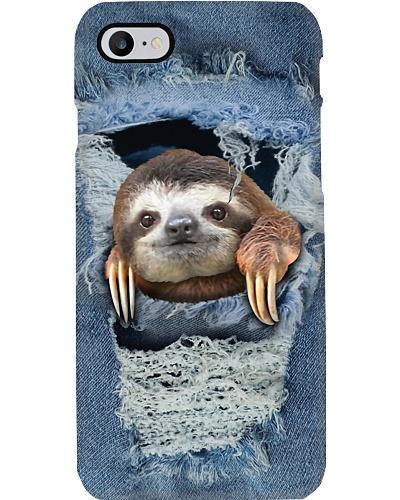 sloth jean texture phonecase