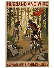mountain biking partners for life 11x17 Poster front