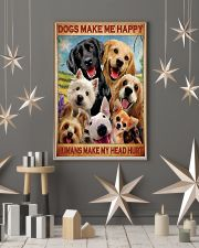 dogs make me happy poster 24x36 Poster lifestyle-holiday-poster-1