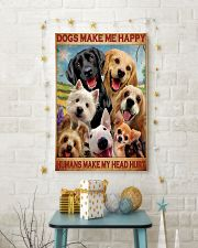 dogs make me happy poster 24x36 Poster lifestyle-holiday-poster-3