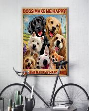 dogs make me happy poster 24x36 Poster lifestyle-poster-7