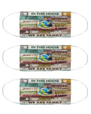 volleyball in this family mas Cloth Face Mask - 3 Pack front