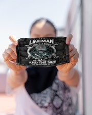 lineman 3 sides mas Cloth Face Mask - 3 Pack aos-face-mask-lifestyle-07