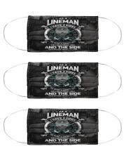 lineman 3 sides mas Cloth Face Mask - 3 Pack front