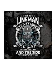 lineman 3 sides mas Square Coaster tile