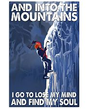 ice climbing find my soul 11x17 Poster front