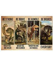 dinosaur be strong pt lqt-ntv Horizontal Poster tile