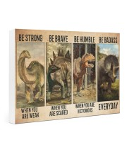 dinosaur be strong pt lqt-ntv 24x16 Gallery Wrapped Canvas Prints thumbnail