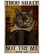 Cat Shakespere Thou Sahlt not try 11x17 Poster front