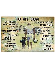 dad to my son american football pt phq nna 24x16 Poster front