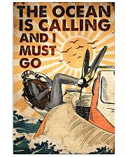 scuba the ocean is calling poster 16x24 Poster front